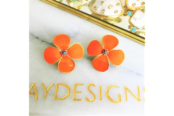 Bodrum Beauty Earring - Coral