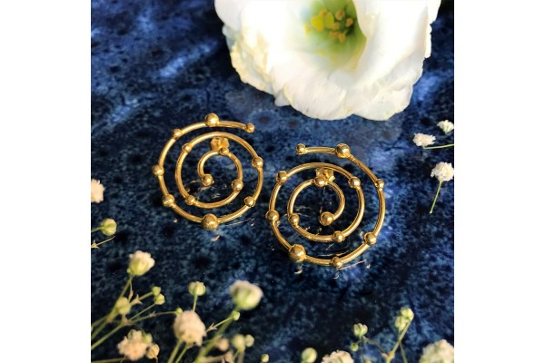 BUDS SPIRAL EARRING - GOLD PLATED