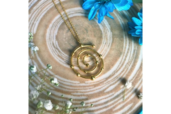 BUDS SPIRAL NECKLACE - GOLD PLATED