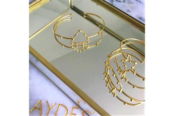 GOLD TRIANGULAR BANGLE
