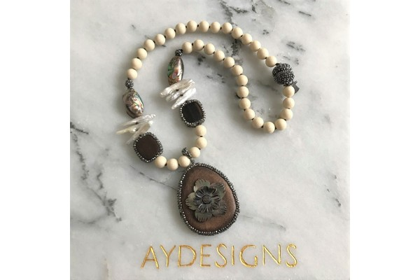 Jasper and Mother Of Pearl Necklace