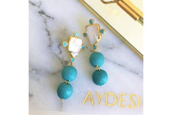 Lara Earring - Turquoise