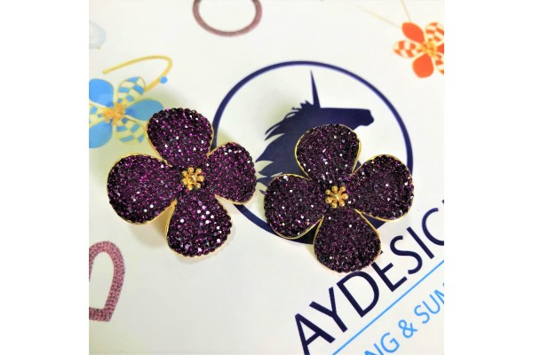 BEAUTY EARRING - AMETHYST
