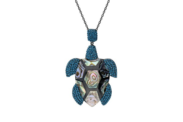 TURTLE ADDICTION LONG NECKLACE - MONTANA