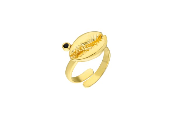 Black Cowry Ring