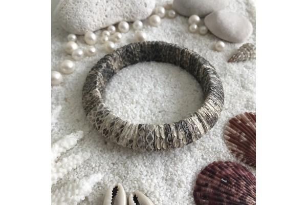 Beige Python Bracelet