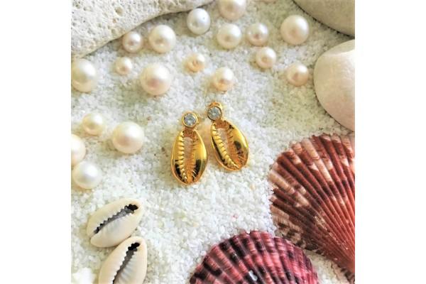 Zircone Cowry Earring