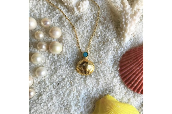 Scallop Turquoise Necklace