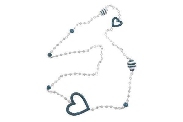 HEART ZIRCONED NECKLACE WITH PEARL - MONTANA